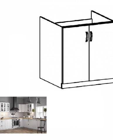 Dolná drezová skrinka D80Z biela/sosna andersen PROVANCE