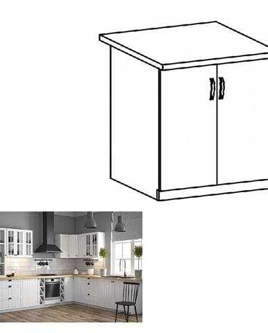 Dolná skrinka s dvierkami D80 biela/sosna andersen PROVANCE