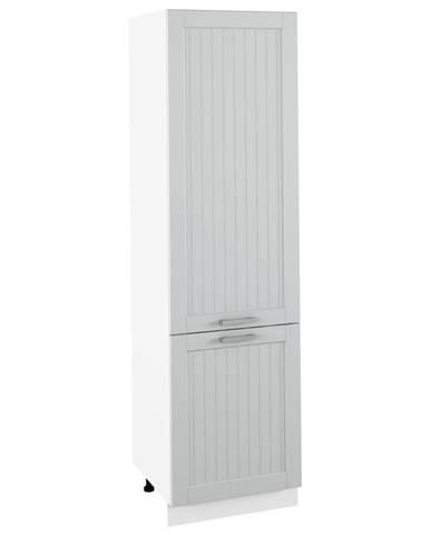 Potravinová skrinka svetlosivá/biela JULIA TYP 80