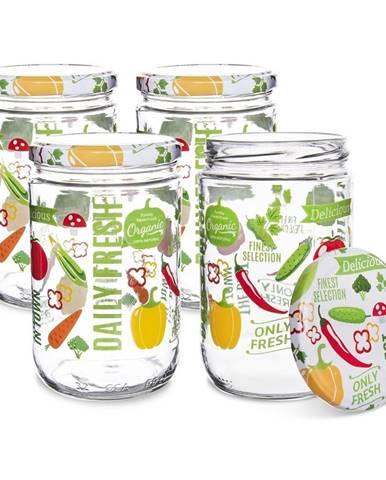 Orion Sada zaváracích pohárov s viečkom Fruit 0,425 l, 4 ks