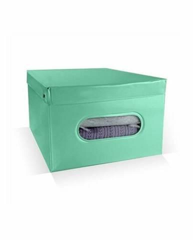 Compactor Skladací úložný box PVC so zipsom Compactor Nordic 50 x 38.5 x 24 cm, zelený