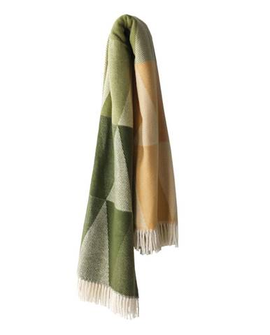 Zelený pléd s podielom bavlny Euromant Pisa, 140 × 160 cm