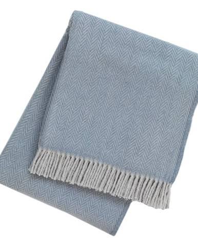 Modrý pléd s podielom bavlny Euromant Skyline, 140 x 160 cm