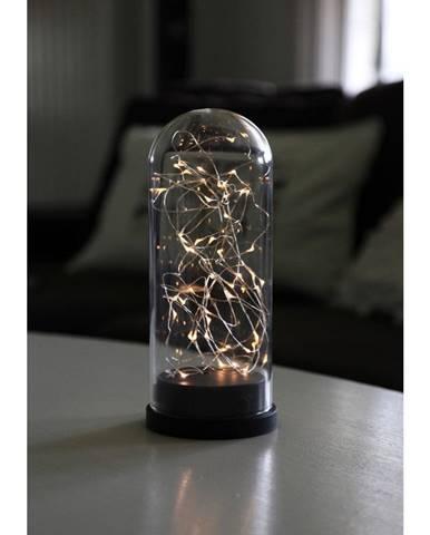 Čierna LED svetelná dekorácia Best Season Glass Dome, výška 25 cm