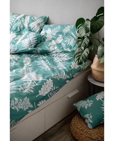 Zelené bavlnené obliečky Cotton HoPalma, 140 x 200 cm