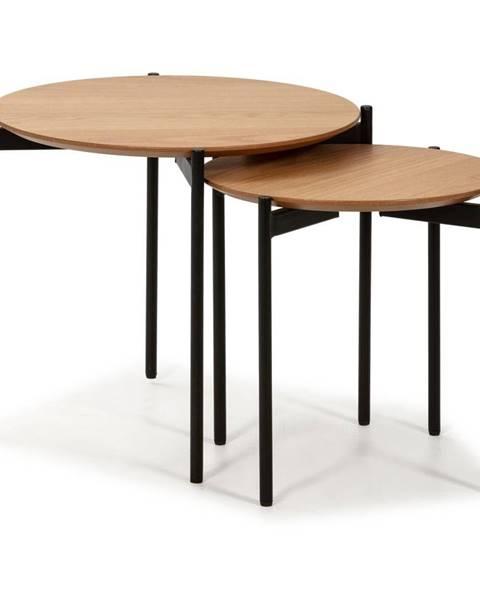 Marckeric Súprava 2 konferenčných stolíkov v drevenom dekore Marckeric Piera