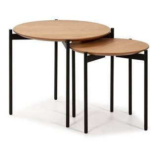 Súprava 2 konferenčných stolíkov v drevenom dekore Marckeric Piera