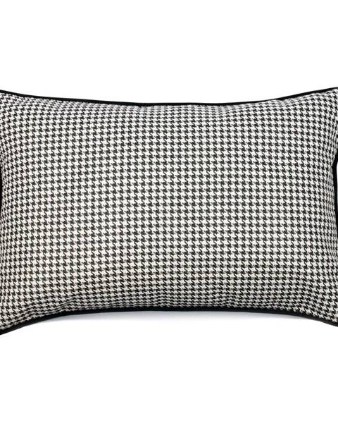 WeLoveBeds Čierno-biela obliečka na vankúš WeLoveBeds Check, 40 × 60 cm