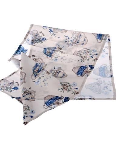 Behúň na stôl Dakls Blue Violet, 40 x 140 cm