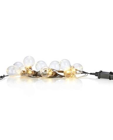 Čierna svetelná LED reťaz Markslöjd Fest Shine, 10svetielok, dĺžka 7,5 m