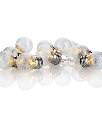 Transparentná LED svetelná reťaz Markslöjd Glöd, 10 svetielok, dĺžka 185 cm