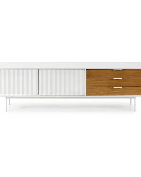 Teulat Bielo-hnedý televízny stolík Teulat Sierra