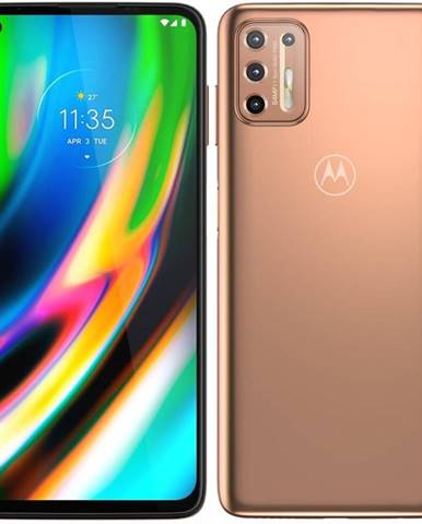 Mobilný telefón Motorola Moto G9 Plus zlatý