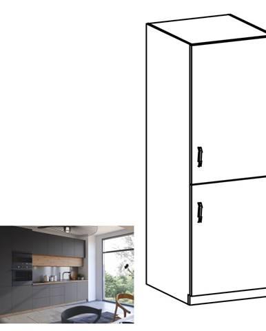 Vysoká skrinka dub artisan/sivý mat pravá LANGEN D60ZL