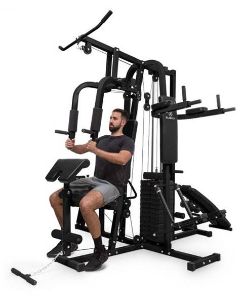 KLARFIT KLARFIT Ultimate Gym 9000, 7 staníc, do 150 kg, QR oceľ, čierna