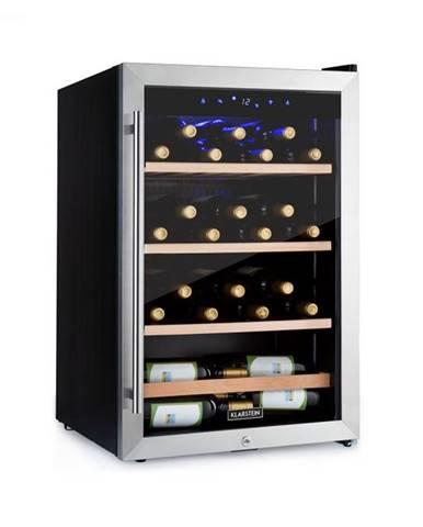 Klarstein Vinamour 48 Uno, vinotéka, 128 l, 48 fliaš, 3 police, 4 – 18 °C, ušľachtilá oceľ
