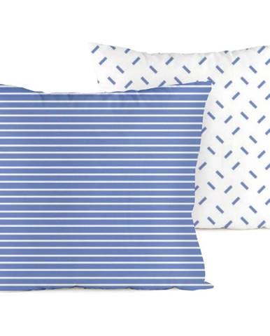 4home Obliečka na vankúšik Pruhy modrá, 40 x 40 cm
