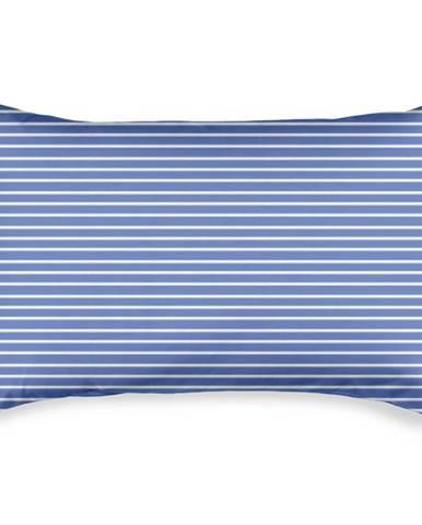 4home Obliečka na vankúšik Pruhy modrá, 50 x 70 cm