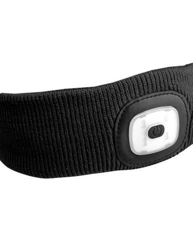 elenka s čelovkou 45lm, nabíjecí, USB, univerzální velikost, černá SIXTOL