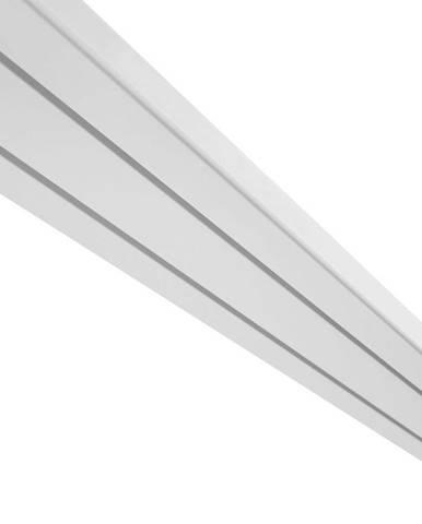 Záclonové Koľajničky Amelie, 120cm, Biela