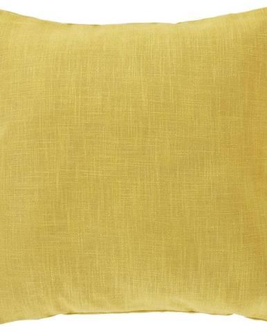 Poťah Na Vankúš Vzhľad Ľanu, 50/50cm, Žltá