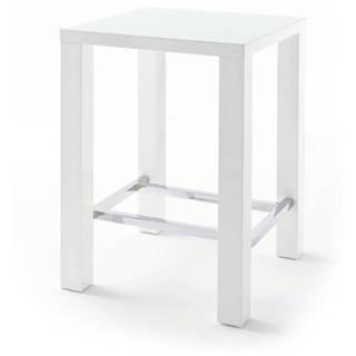 Barový stôl GERARD 1 biela/sklo