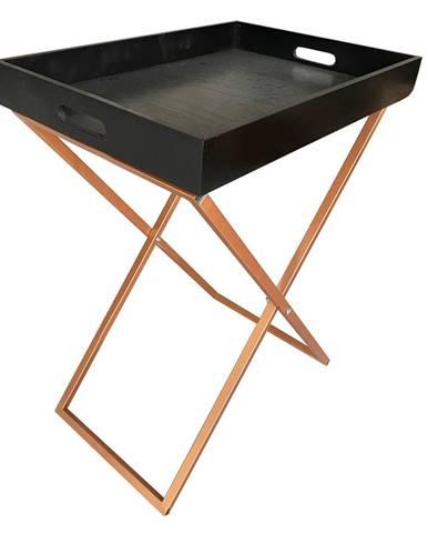 Servírovací stolík čierna/meď MASINO