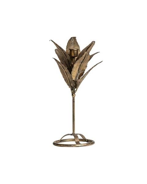 BePureHome Svietnik v tvare listov v zlatej farbe BePureHome, výška 32 cm