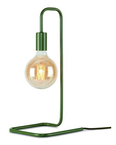 Zelenosivá stolová lampa Citylights London