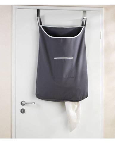Sivý závesný kôš na bielizeň Wenko Door Laundry, 65 l