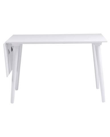 Biely jedálenský stôl z masívneho dubového dreva Rowico Lotte Leaf, 120 x 80 cm