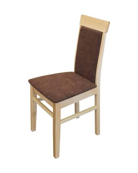 IDEA Nábytok Jedálenská stolička OLI buk/tmavo hnedá