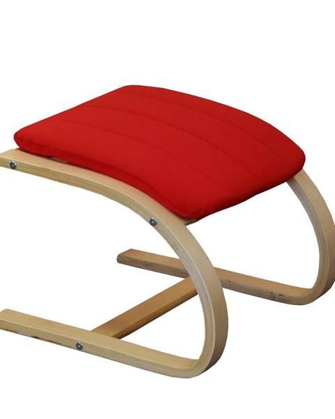 IDEA Nábytok Podnožka LISA červená