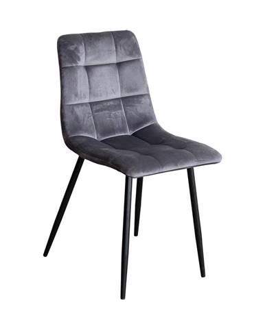 Jedálenská stolička BERGEN sivý zamat