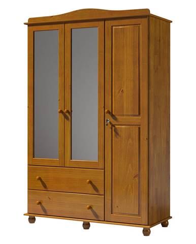 Skriňa 3-dverová GRAND PRIX hnedá