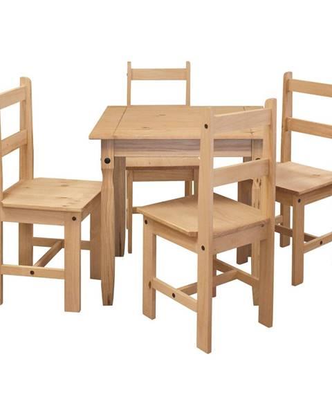 IDEA Nábytok Jedálenský stôl 16117 + 4 stoličky 1627 CORONA 2