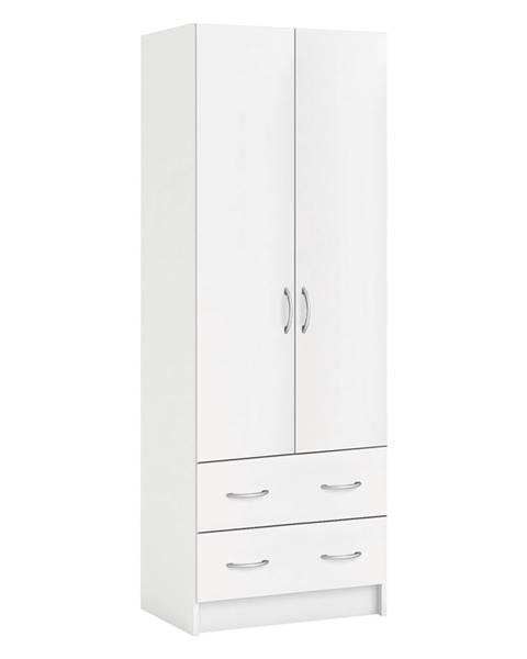 IDEA Nábytok Skriňa policová 2 dvere + 2 zásuvky BEST biela