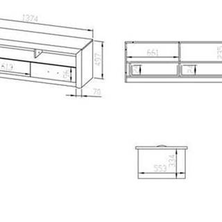 MLnábytok Tv stolík Castel 13