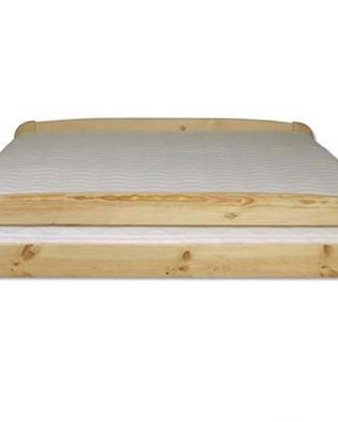 Drewmax Manželská posteľ - masív LK108 | 120cm borovica