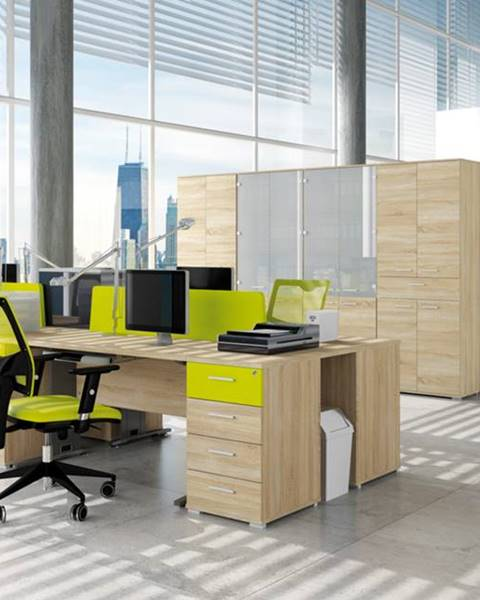 MLnábytok MLnábytok Kancelársky stôl OPTIMAL 16 / sonoma svetlá