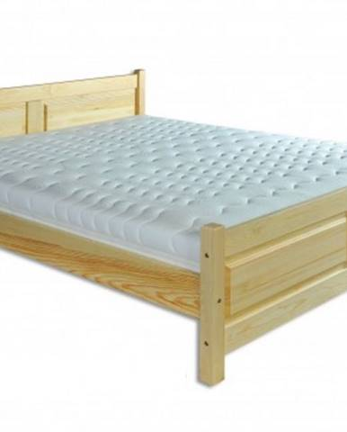 Drewmax Manželská posteľ - masív LK115 / 180 cm borovica