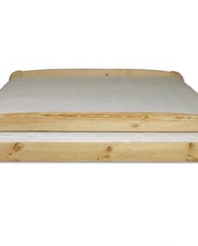 Manželská posteľ - masív LK108   120cm borovica