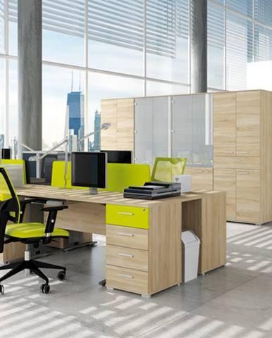 MLnábytok Kancelársky stôl OPTIMAL 13 / sonoma svetlá