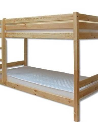 Poschodová posteľ - masív LK136   borovica