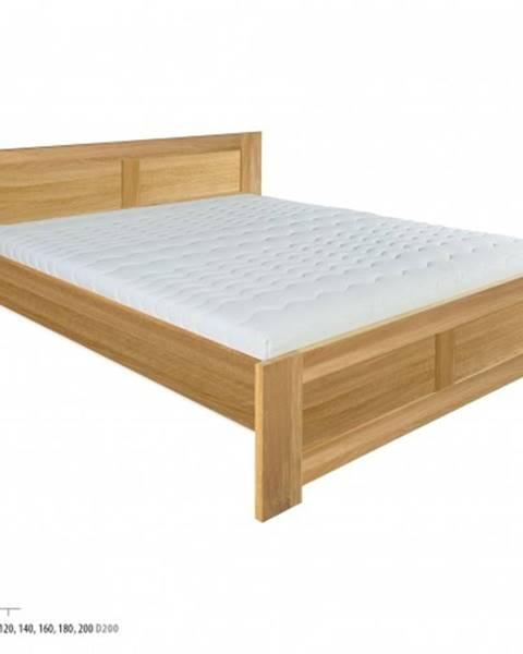 Drewmax Drewmax Manželská posteľ - masív LK212 | 180 cm dub
