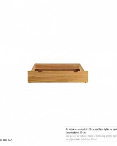 Drewmax Úložný box pod posteľ - masív LK270 | dub