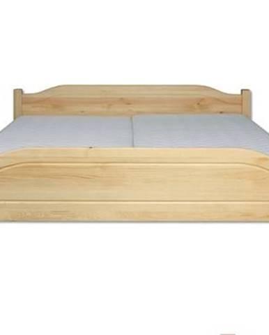 Manželská posteľ - masív LK101   180cm borovica