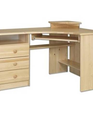 Písací stôl - masív BR108 | borovica