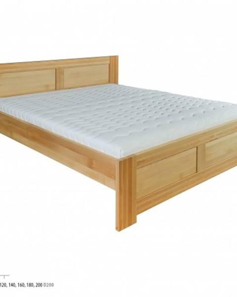 Drewmax Drewmax Jednolôžková posteľ - masív LK112 | 120 cm buk