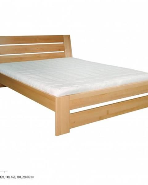 Drewmax Drewmax Manželská posteľ - masív LK192 | 200 cm buk